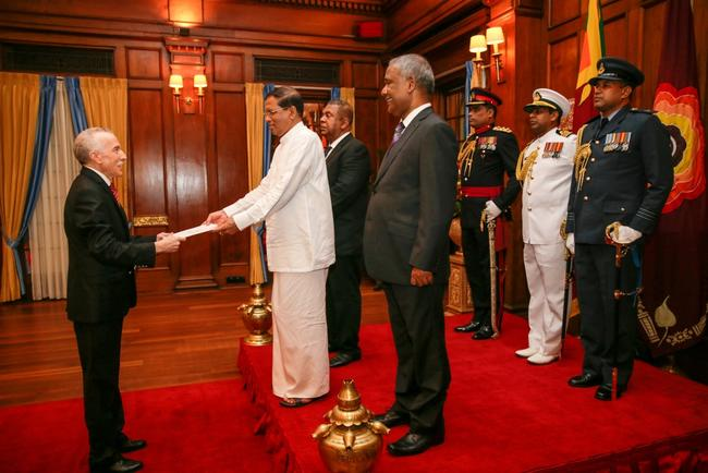H.E. Mr. Hamza Yahia-Cherif's presentation of credentials (SRI LANKA)