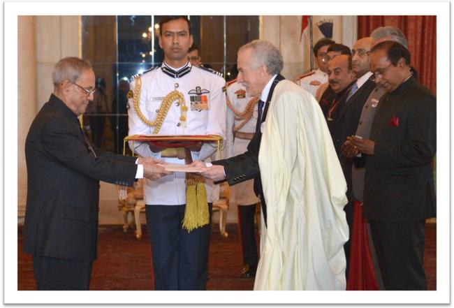 H.E. Mr. Hamza Yahia-Cherif's presentation of credentials (INDIA)