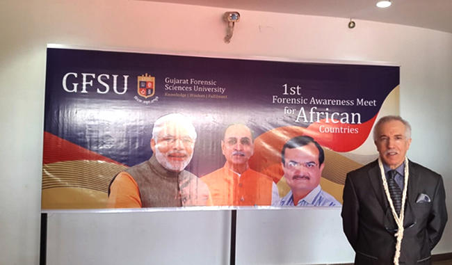 THE ALGERIAN AMBASSADOR TOOK PART TO THE 1ST FORENSIC AWARENESS MEET FOR AFRICAN COUNTRIES 2017 IN GUJARAT.