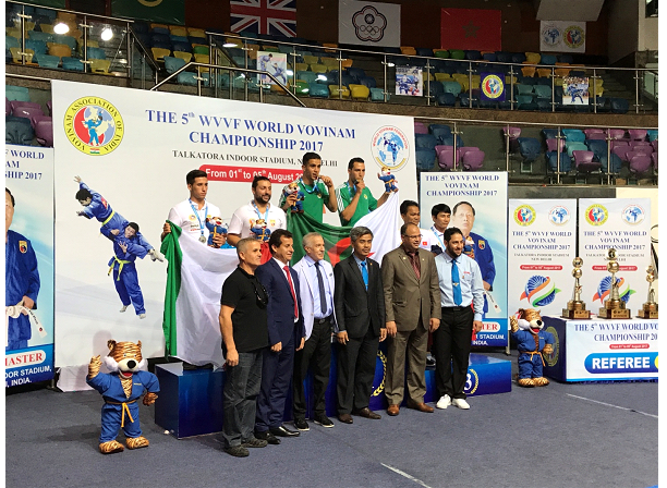 HIS EXCELLENCY HAMZA YAHIA-CHERIF AMBASSADOR OF ALGERIA TO INDIA ATTENDED THE 5TH WVVF WORLD VOVINAM CHAMPIONSHIP 2017 ORGANISED IN NEW DELHI FROM 1 TO 5 AUGUST 2017.