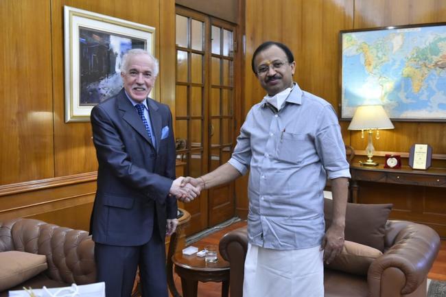 Algerian Ambassador meets  Honourable Minister of State for External A..