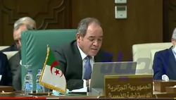 His Excellency Mr. Sabri BOUKADOUM, Minister of Foreign Affairs speech in the Extraordinary Ministerial Meeting of League of Arab States at Cairo, Egypt, on 08th February, 2021.