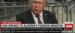 H.E.Mr. Ramtane LAMAMRA, Minister of Foreign Affairs and National Community Abroad, talking to CNN on 21st September, 2021.